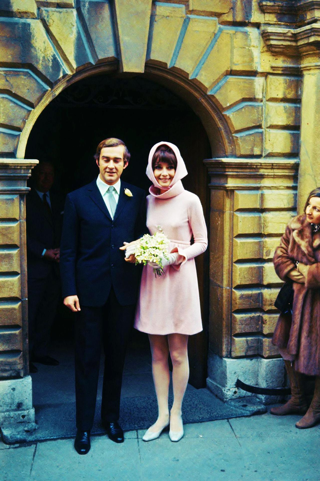 On January 18, 1969, at age 39, Audrey Hepburn marries Italian psychiatrist Andrea Dotti